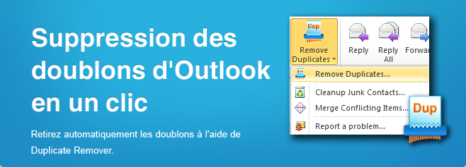 Duplicate Remover - Suppression des doublons d'Outlook en un clic