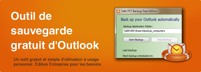 Safe PST Backup - Outil de sauvegarde gratuit d'Outlook