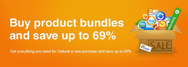 Tutto il necessario per Outlook in un unico acquisto e con un forte risparmio.