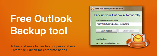 Safe PST Backup - Free Outlook Backup tool.