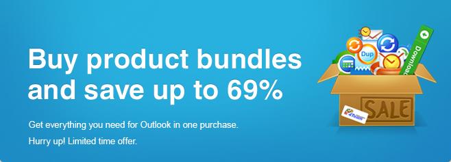 Tutto il necessario per Outlook in un solo acquisto e con un grandissimo risparmio.