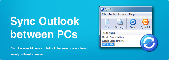 Sync2 - Sync Outlook between PCs.